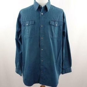 Columbia PFR Teal Blue Button Front Shirt